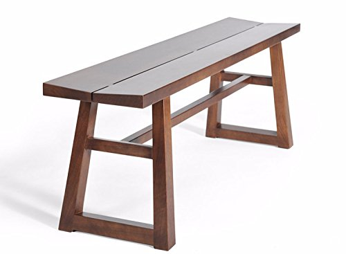 Gingko Home Furnishings Chelsea Bench, Hand Crafted of Solid Walnut, Features Exposed Dovetail Joints