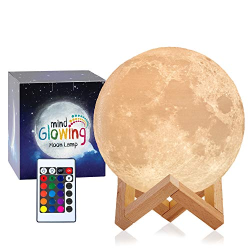 3D Moon Lamp with 16 LED Colors
