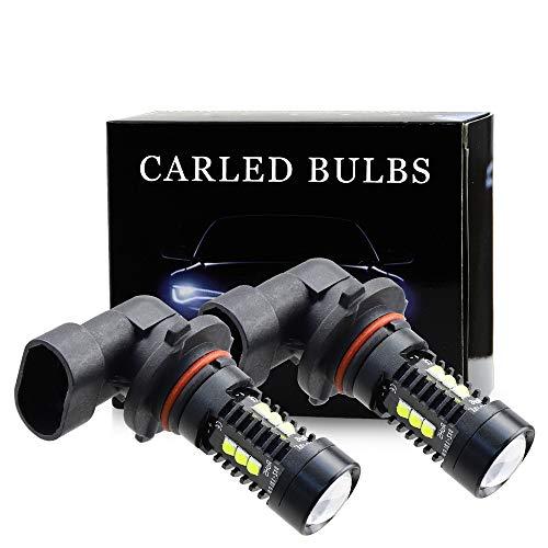 DXZ 9005 HB3 H10 Bombillas de luz Antiniebla LED - 2500LM 6500K Impermeables IP68 con Proyector de Lentes para Van Camión Coche Luces de Circulación Diurnas de Luces Blanco Frio