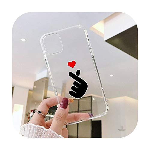 Lindo amor corazón amantes teléfono caso transparente suave para iphone 5 5s 5c se 6 6s 7 8 11 12 plus mini x xs xr pro max-a6-para iphone 7 u 8