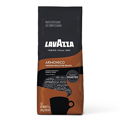 Lavazza Armonico Whole Bean Coffee Blend, Medium Roast, 12 Oz