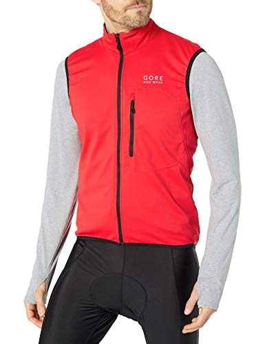 GORE WEAR Herren Element Windstopper (Softshell) Weste, Rot, XL