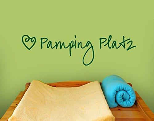 Wandtattoo No.SF740 Pamping Platz Baby Geburt Pampers Windel Wickeltisch, Farbe:Pink;Größe:122cm x 457cm
