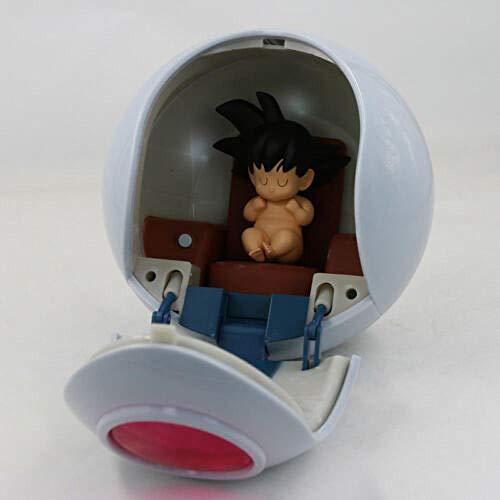CXNY Dragon Ball Z Baby Goku Kakarot cápsula para Dormir Pod PVC Figura Estatua Modelo-Baby Goku + Cápsula Pod