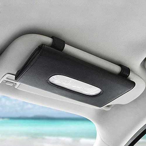 GOFORJUMP auto zonnescherm papieren handdoek tas multifunctionele lederen auto opknoping stoel auto doos Tissue doos schaduw papier handdoek doos
