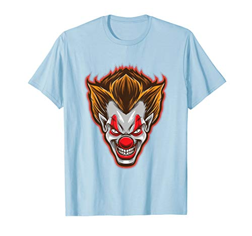 Horror Clown-Gesicht Scary Happy Halloween-Party T-Shirt