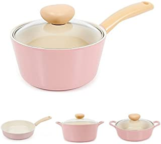 Neoflam Retro 7 Piece Ceramic Nonstick Cookware Set in Pink