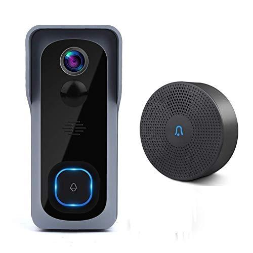 Cámara De Timbre WiFi A Prueba De Agua 1080P HD Video Timbre De Puerta Detector De Movimiento Timbre Inalámbrico Inteligente con Cámara De Visión Nocturna (Color : Standard)