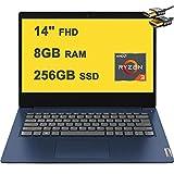 Lenovo 2020 Flagship Ideapad 3 Laptop Computer 14' Full HD AMD Ryzen 3 3250U (Beat i7-7600U) 8GB DDR4 256GB SSD AMD Radeon Vega 3 WiFi HD Webcam Dolby Audio Win10 + HDMI Cable