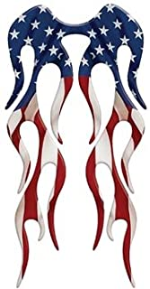 Motorcycle Fender USA American Flag Flame decal (Rear or Short Fender Style) - 8