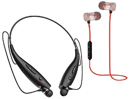 Glampanda HBS730 Wireless Bluetooth In Ear Neckband Earphone and Headset with Mic (Multicolour)