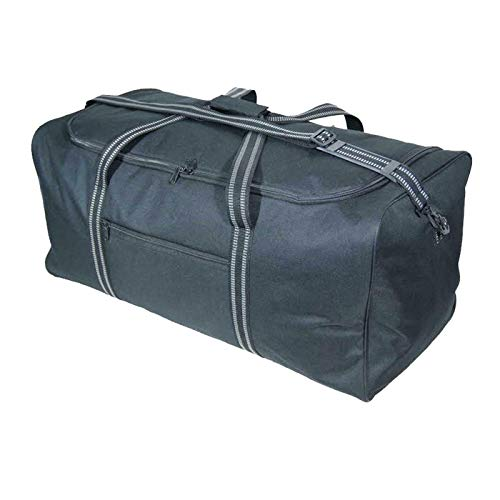 Black Extra Large X-L Holdall - Travel Duffle Bag - Very Big Luggage Bags for Storage, or Laundry -30' and 34' (XL 30': 75x37x35cm - 100 litres)