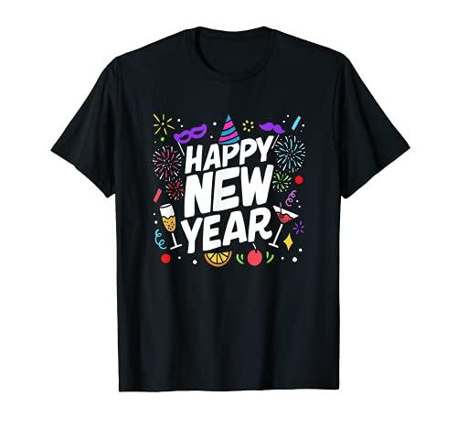 Feliz Nochevieja 2021 Decoraciones de la fiesta de Camiseta