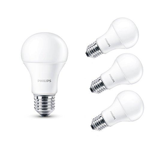 Philips 230 V Culot à vis Edison E27 13.5W LED Ampoule Lampe Blanc Chaud, Lot de 4, E27 (Edison Screw) 230 volts