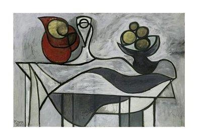 Germanposters Pablo Picasso Krug und Obstschale hochwertiger Kunstdruck Bild limitiert 80x60cm