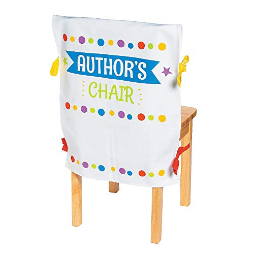 Fun Express Author's Chair - Chair Cover - 1 Piece - Educational and Learning Activities for Kids