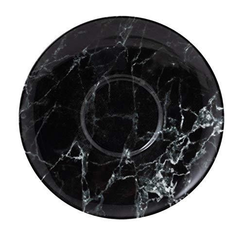 like. by Villeroy & Boch Marmory Kaffeeuntertasse Black, 16x16x2cm
