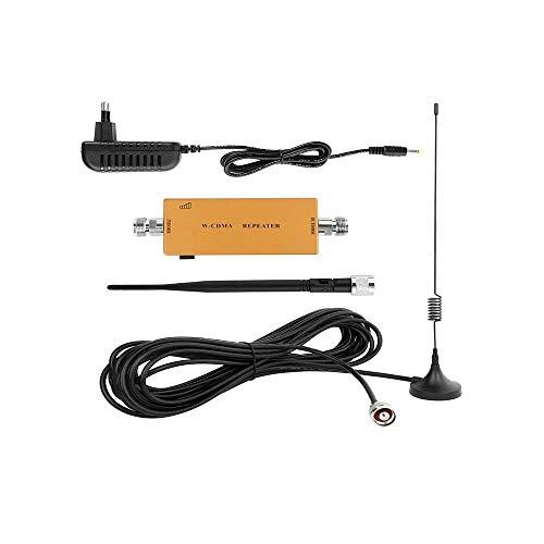 Yuanj Amplificatore di Segnale Ripetitore Cellulare gsm 900MHz Boost Voce e 2G/3G Segnale Dati per Telefonica Cellulari con Antenne per Uso Domestico/Ufficio Fino a 540 mq Ft (d'oro) (d'oro)