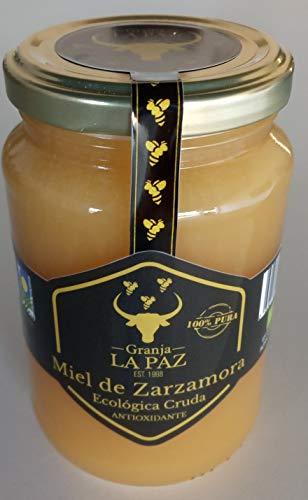 "Miel Cruda Ecológica Zarzamora \""Granja La Paz\"" sin refinar / sin pasteurizar /100{1736dc948848d112259755a3b31834e12c7d19a9b14115c34598e82d4a8d502e} española y pura sin azúcares añadidos / 500 gr."
