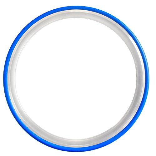 Tannus 700 x 23C Vollgummireifen Slicks Fixie Singlespeed Reifen Rennrad, Farbe:blau