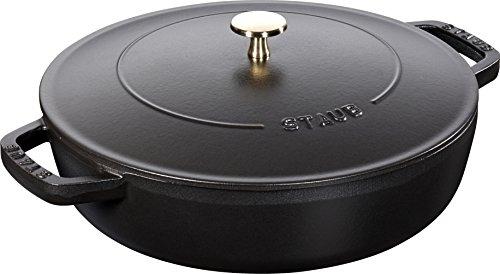 Staub 40511-472-0 Chistera Sauteuse en Fonte Mat 28 cm, Noir