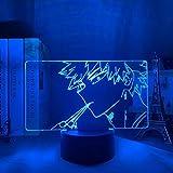 Lámpara de noche 3D Lámpara de ilusión de anime Lámpara de Anime 3D Bakugo My Hero Academy para decoración de dormitorio Regalo de cumpleaños Manga Gadget My Hero Academy Katsuki Bakugo Light