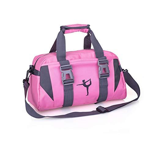 LIZHOUMIL Paquete de yoga de tela de nylon multifuncional Yoga Natación Fitness Viajes Ocio Bolsa al aire libre Rosa (tamaño mediano)