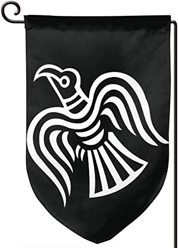 Zikely Dekoratives Banner Wikinger Fahne Garden Flag 12.5