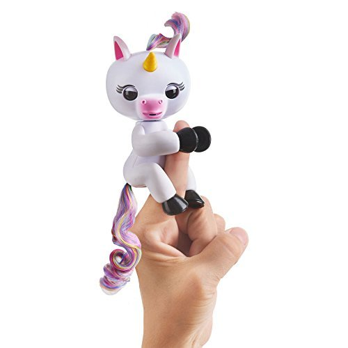 Fingerlings Baby Unicorn - Gigi (White with Rainbow Mane and Tail) - Interactive...