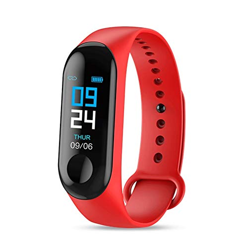CXSD Pulsera inteligente Bluetooth Smart Watch Fitness Tracker Reloj deportivo IP65 impermeable (color: rojo)