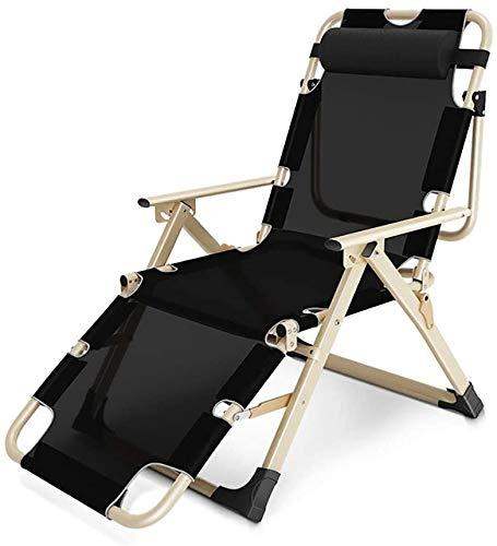 Gravedad Cero Silla Patio, reclinable con una Almohada, Plegable reclinable Patio, terraza Cubierta sillas de Playa Piscina de la Playa de césped Prado Acampar