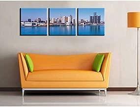 مطبوعات على القماش FYSKJDG 3 Plane City Scenery Modern Home Decor Wall Art Canvas Print Print Painting Set Of 3 كل فنون قماشية (بدون إطار)