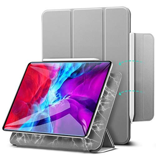 "ESR Rebound Magnetic Smart Case para iPad Pro 12,9""2020/2018, Acessório Magnético Conveniente [Suporta Pencil Pairing & Charging] Capa Smart Case, Case Auto Sleep/Wake Trifold Stand - Cinza"