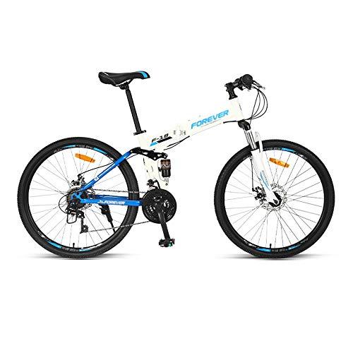 Bicicleta de Montaña, Bicicleta Plegable, Rueda de 26 Pulgadas, 24 Velocidades, Bicicleta Ordinaria para Adultos con Doble Choque Y Cola Suave con Cambio/B/Como se muestra