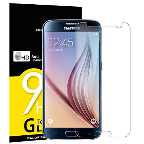 NEW'C PanzerglasFolie Schutzfolie für Samsung Galaxy S6, [3 Stück] Frei von Kratzern Fingabdrücken und Öl, 9H Härte, HD Displayschutzfolie, 0.33mm Ultra-klar, Displayschutzfolie Samsung Galaxy S6