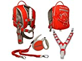 MDXONE Kids Snowboard Ski Trainer Harness with Retractable Leash and Absorb bungees(RED) 2019-2020