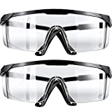 Safety Goggles Protective Safety Glasses, Anti-Fog Anti-Scratch Clear Chemical Splash Safety Goggles (2)