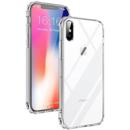 PROBIEN Coque iPhone X/XS, Coque de téléphone Ultra-Mince Transparente en, Silicone Flexible TPU Pare-Chocs Anti-Rayures Protection Contre Les Chutes en Plastique...