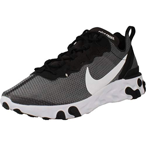 Nike Herren React Element 55 Se Men's Shoe Laufschuh, Black/White, 41 EU