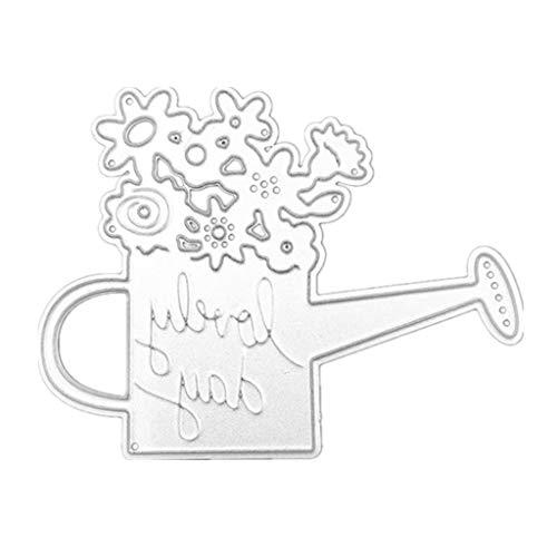 MIsha Troqueles de Corte Cutting Dies Acero al carbono flor de la olla de corte de agua troquelado plantillas de stencil molde papel DIY arte Craft Scrapbook marcador de la tarjeta decoración