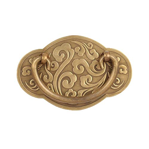 Zuiver koperen ladehandvat Antieke minimalistische Moiré-kast Handvat Decoratieve deurklopper Voor het maken van doe-het-zelf