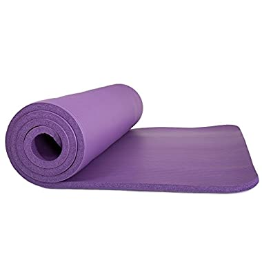 Sleeping Pad, Lightweight Non Slip Foam Mat with Carry Strap by Wakeman Outdoors (Thick Mattress for Camping, Hiking, Yoga and Backpacking) (Purple)