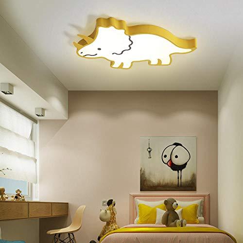 LED-kroonluchter afstandsbediening modern licht voor kinder-geel, 62 x 35 x 5 cm, 20 W_Brightness_dimbaar
