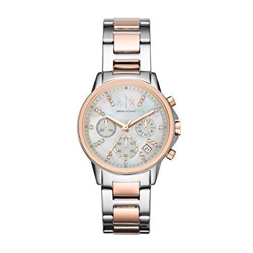 Armani Exchange Damen Chronograph Quarz Uhr mit Edelstahl Armband AX4331
