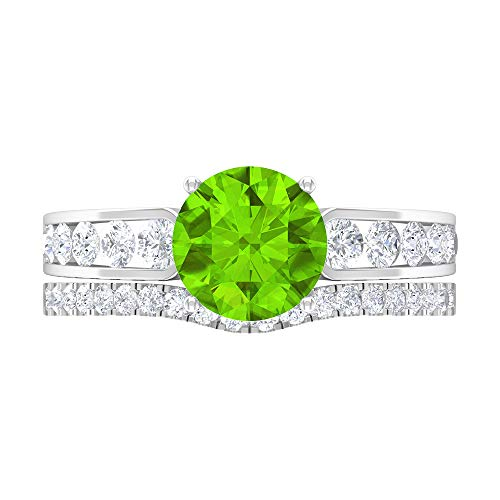 Anillo de compromiso de diamante HI-SI de 2,10 quilates, anillo de compromiso de oro de 14 quilates, Metal, Diamond Creado en laboratorio de kryptonita,