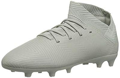adidas Unisex-Kid's Nemeziz 18.3 Firm Ground Soccer Shoe, ash Silver/ash Silver/White Tint, 1 M US Little Kid