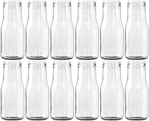 Glasfläschchen im Landhausstil Flasche Vase Tischvasen Glasflaschen Dekoflaschen Väschen Vasen Glasvasen (12)