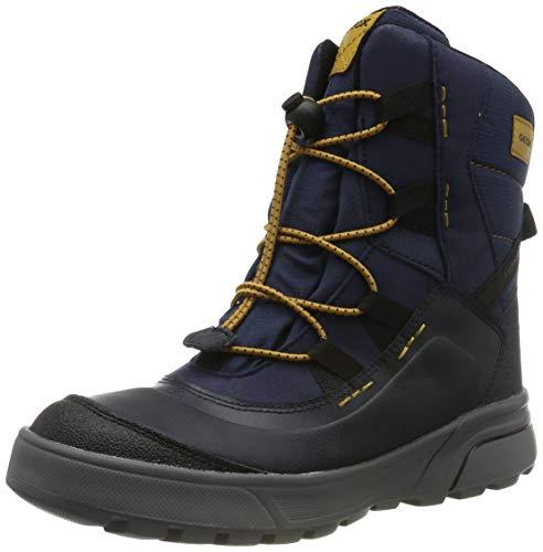 Geox Jungen J SVEGGEN BOY B ABX A Schneestiefel, Blau (Navy/Dk Yellow C4229), 37 EU