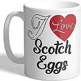 Taza con texto 'I Love Scotch Eggs'