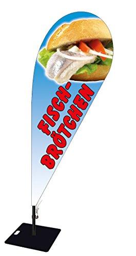 Beachflag Fisch Brötchen BMF021